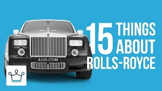Download 15 Things You Didn't Know About ROLLS-ROYCE Video