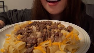 Download ASMR Fajitas Beef Cheesy Noodles Eating Sounds Video