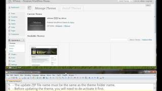 Download NVision tutorials: How to update the nVision WordPress theme Video