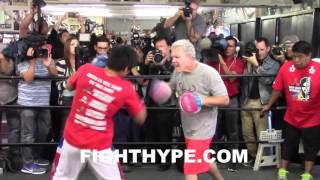 Download (WOW!) MANNY PACQUIAO DISPLAYS BLAZING SPEED & EXPLOSIVE POWER ON MITTS AHEAD OF THIRD BRADLEY CLASH Video