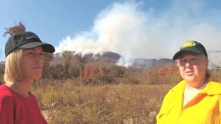 Download Chasing the Walden's Ridge forest fire with the Tennessee Forestry Department Video
