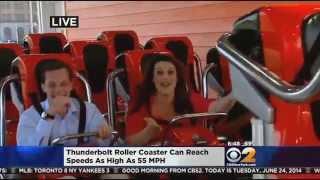Download CBS 2's Alex Denis Rides Coney Island's Thunderbolt Roller Coaster Video