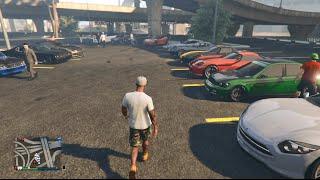 Download GTA 5 Online (Xbox One) | Street Car Meet | Banshee, Cruising, Sewer Drags, & More Video