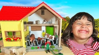 Download Schleich New Barn Farm Animals Learn Names and Sounds Educational for Kids Video