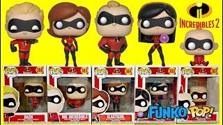 Download The Incredibles 2 Movie Funko Pop with Baby Jack Jack Family Superheroes Video
