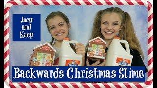 Download Backwards Christmas Slime Challenge ~ Jacy and Kacy Video