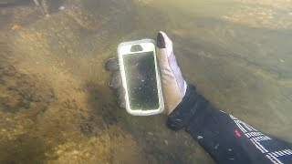 Download Found Lost iPhone in River While Scuba Diving! (Returned to Owner) Video
