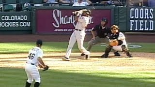 Download Bonds goes deep three times at Coors on 9/9/01 Video