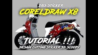 Download TERNYATA..! beginilah proses cutting sticker 3d scoopy bagi pemula Video