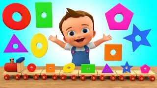 Download Learn Colors & Shapes for Children with Baby Wooden Toy Train Shapes Toy Set 3D Kids Educational Video