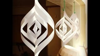 Download Quick and easy paper Christmas decorations Video
