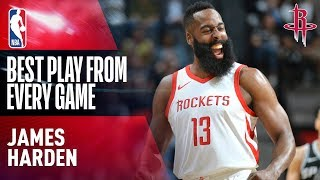 Download James Harden's BEST PLAY from Every Game | Houston Rockets 2017-2018 Video