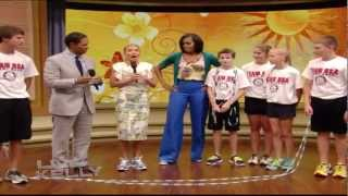 Download Live with Kelly - Michelle Obama surprises jump rope team! Video