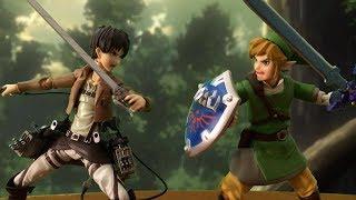 Download Attack on Titan Stop Motion: Eren VS Link Video
