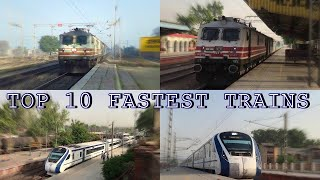 Download TOP 10 FASTEST TRAINS IN INDIAN RAILWAYS - VANDE BHARAT - GATIMAAN - SHATABDI - RAJDHANI Video