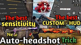 Download Free fire new auto headshot trick, the best sensitivity and custom hud settings Video