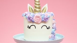 Download HOW TO MAKE A UNICORN CAKE - NERDY NUMMIES Video