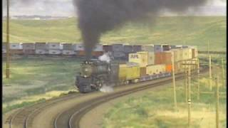 Download UP Challenger #3985 + 143 Freight Cars Video