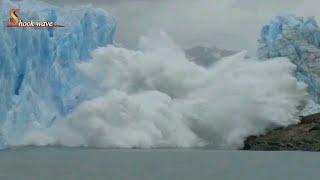 Download Shocking glacier calving create tsunami wave   glacier   glacier national park 2k17   shockwave 4/4 Video