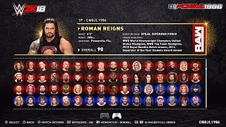 Download WWE 2K18 Roster Concept : (RAW\ SDLIVE\ Cruiserweight\ NXT\ Hall Of Fame\ Celebrity Superstars) Video