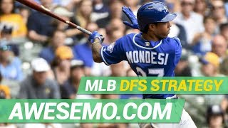 Download MLB DFS Strategy - Mon 8/19 - DraftKings FanDuel Yahoo - Awesemo Video