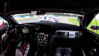 Download Alex Buncombe Onboard RJN Nissan GTR GT3 British GT Donington Video
