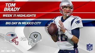 Download Tom Brady Tears Through Oakland's Defense in Mexico City! | Patriots vs. Raiders | Wk 11 Player HLs Video