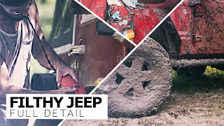 Download Detailing The Dirtiest Jeep Wrangler! Complete Interior and Exterior Detail Video
