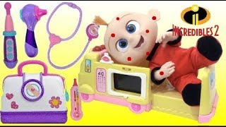 Download Baby Jack Jack has Chickenpox and Visits Doc McStuffins Toy Hospital Ambulance! Video