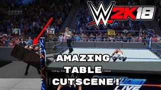 Download WWE 2K18: Amazing Chokeslam Through The Table Universe Mode Cutscene! Video