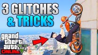 Download GTA 5 Online - 3 NEW GLITCHES & TRICKS! (Drive Up Walls, Swing Glitch & Secret Location) Video