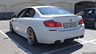Download Modified BMW M5 F10 with Straight Pipes! - Amazing Twin Turbo V8 Sounds! Video