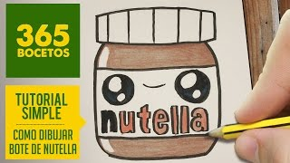Download COMO DIBUJAR UN BOTE DE NUTELLA KAWAII PASO A PASO - Dibujos kawaii faciles - How to draw Nutella Video