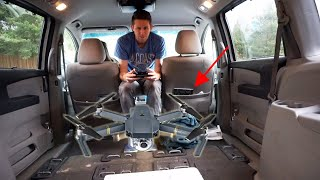 Download If You Fly a Drone in a Car, Does it Move With It? (Dangerous In-Car Flight Challenge) Video