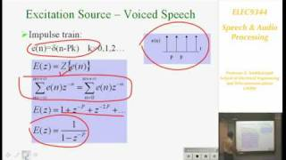Download Speech and Audio Processing 1: Introduction to Speech Processing - Professor E. Ambikairajah Video
