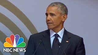 Download Fmr. President Barack Obama Speaks At Mandela Day (Full) | NBC News Video