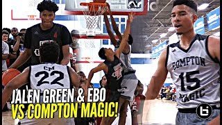 Download They TALK The Talk & WALK The Walk! STACKED Compton Magic vs Jalen Green & EBO Was a Battle! Video