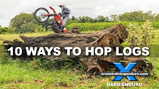 Download 10 WAYS TO HOP LOGS ON A DIRT BIKE: cross training overview Video