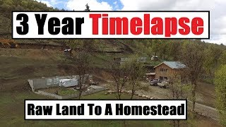 Download 3 Year Timelapse - An Off Grid Homestead From Start To Finish (Debt Free) Video