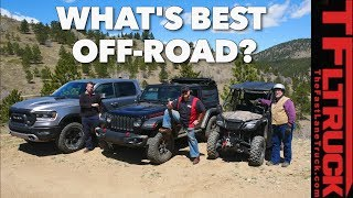 Download What's The Best Offroader? Pickup Truck vs Jeep vs Side-by-Side vs Cliffhanger 2.0! Video