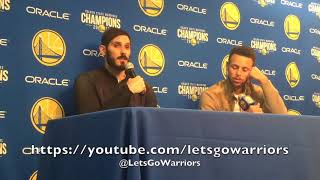 Download STEPH CURRY and OMRI CASSPI, postgame GSW (9-3) vs MIN: peaking?, turnovers, Casspi role Video