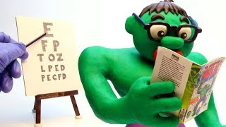 Download Hulk needs glasses Stop Motion Play Doh Cartoon video for kids Video