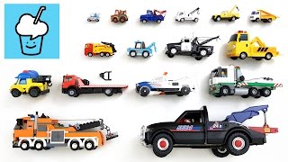 Download Tow Truck for children kids and more with lego transformer playmobil siku tayo 타요 꼬마버스 타요 중앙차고지 Video