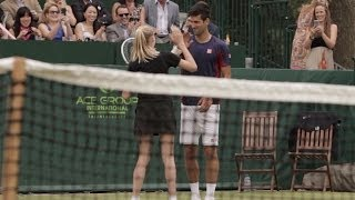 Download Djokovic Makes a Great Ball Girl! Video