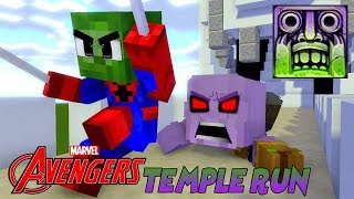 Download Monster School : AVENGERS COOL TEMPLE RUN CHALLENGE with CAPTAIN MARVEL! - Minecraft Animation Video