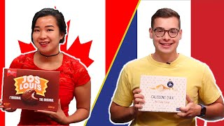 Download Canadian and French People Swap Snacks Video