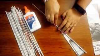 Download How to make Easy rolled newspaper tube or sticks Video