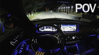 Download Mercedes-Benz S500 W222 2014 - POV Night Test Drive Video
