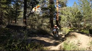 Download The Redshift ripping through trails in the Mammoth Mountains Video