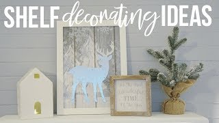 Download Christmas Shelf Decorating Ideas!   Decorate With Me!!! Video